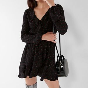 EXPRESS // Ruffle Polka Dot Dress